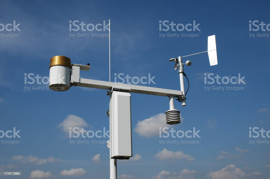 Weather Station royalty-free stock photo