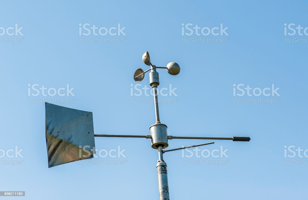 Weather station stock photo