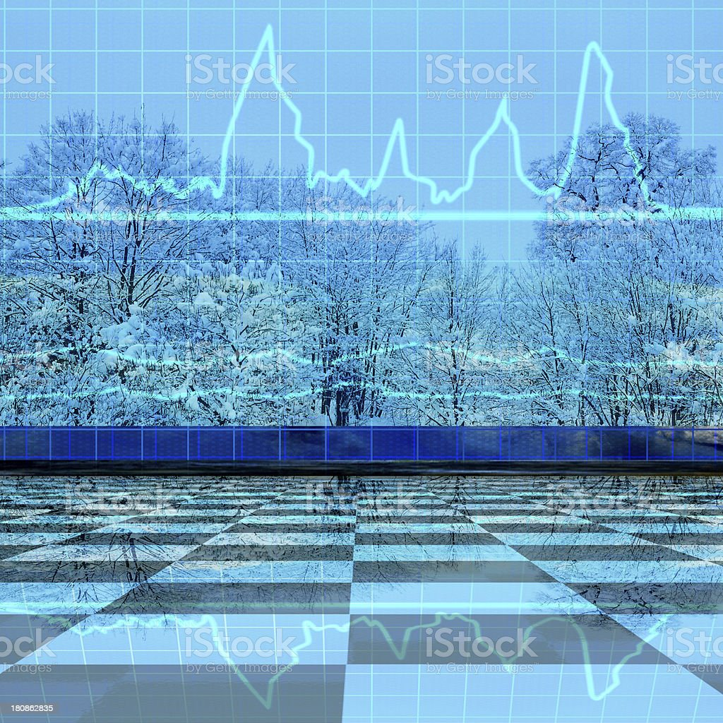 Weather statistics - 3d rendered illustration royalty-free stock photo