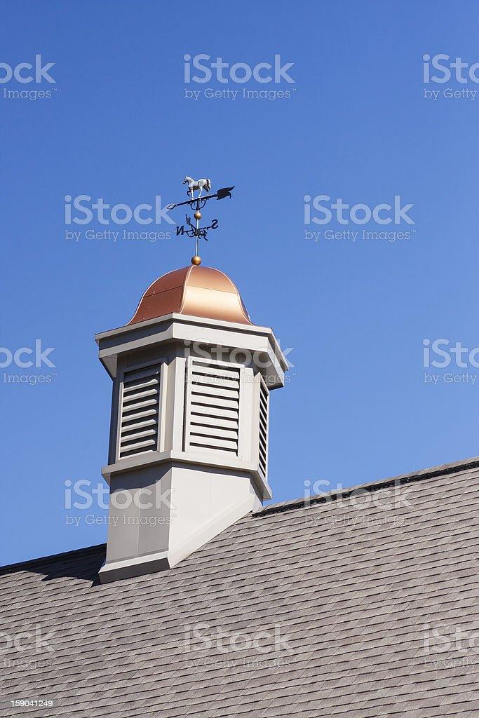 Weather Vane on Copper Cupola stock photo