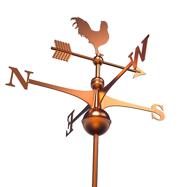 Weather vane Wind weather vane over white weather vane stock pictures, royalty-free photos & images