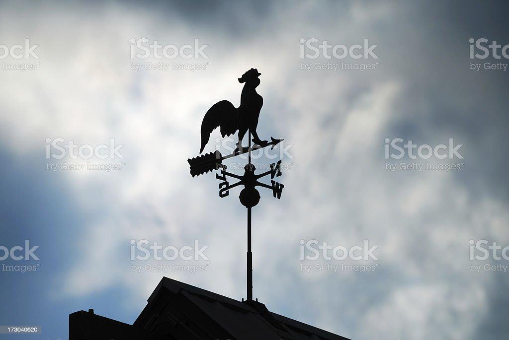 Weather Vane Silhouette royalty-free stock photo