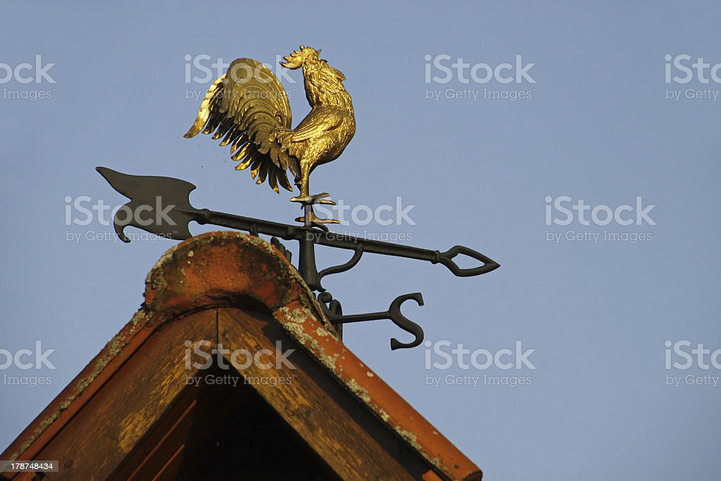 Weathercock in Luegde stock photo