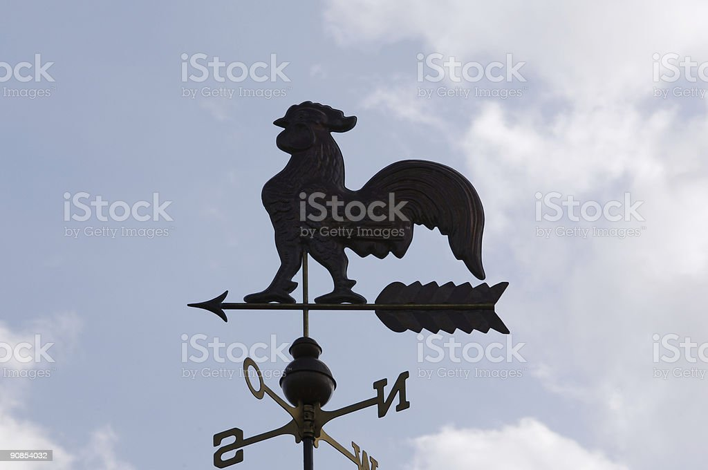 weathercock royalty-free stock photo