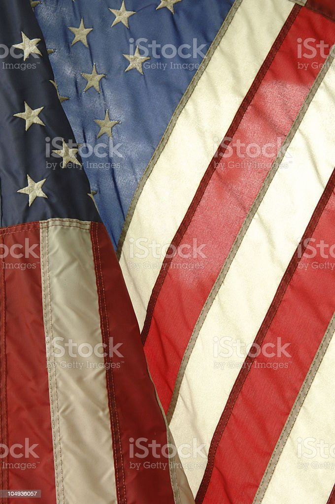 Weathered American Flag royalty-free stock photo