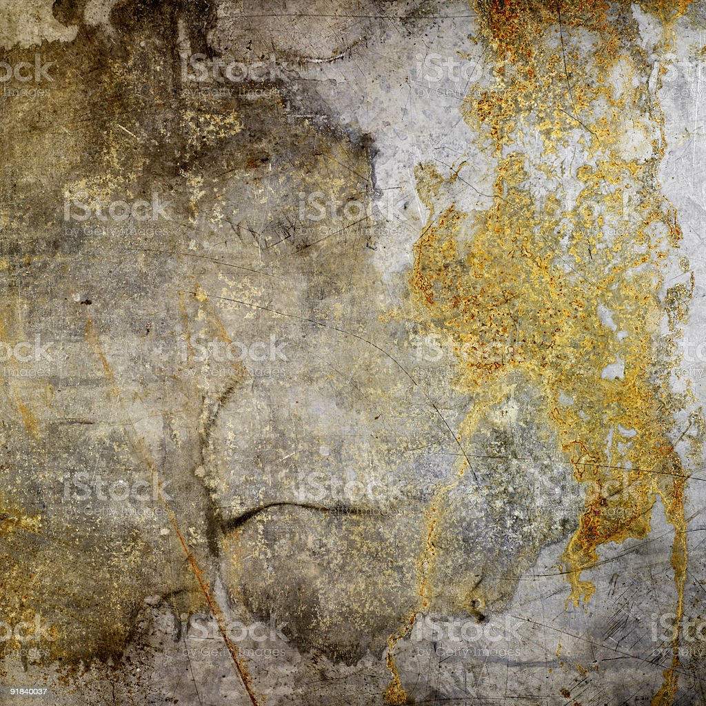 Weathered and distressed metal background royalty-free stock photo
