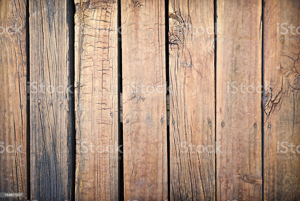 Weathered and Rough Old Wooden Planks royalty-free stock photo
