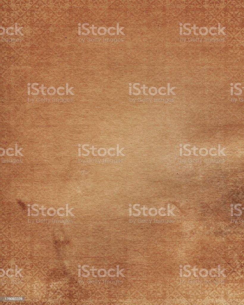 weathered and stained pattern paper royalty-free stock photo