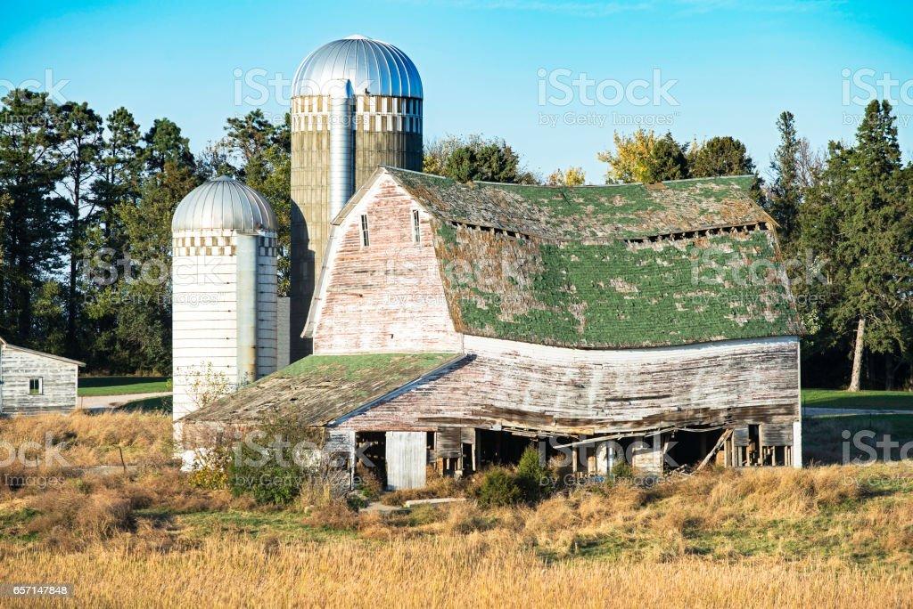 Weathered Barn stock photo