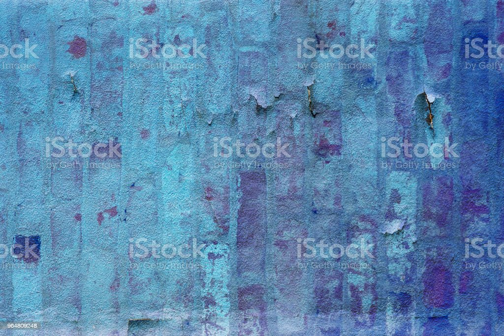 Weathered Blue Concrete Wall Background royalty-free stock photo
