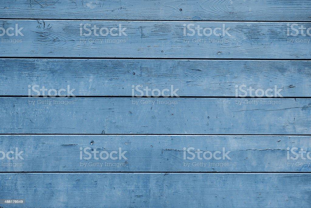 Weathered blue plank stock photo
