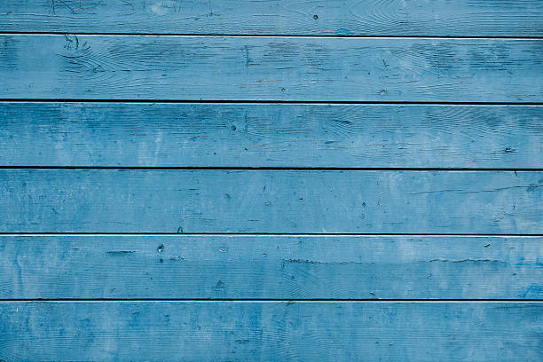 Weathered blue plank stock photo