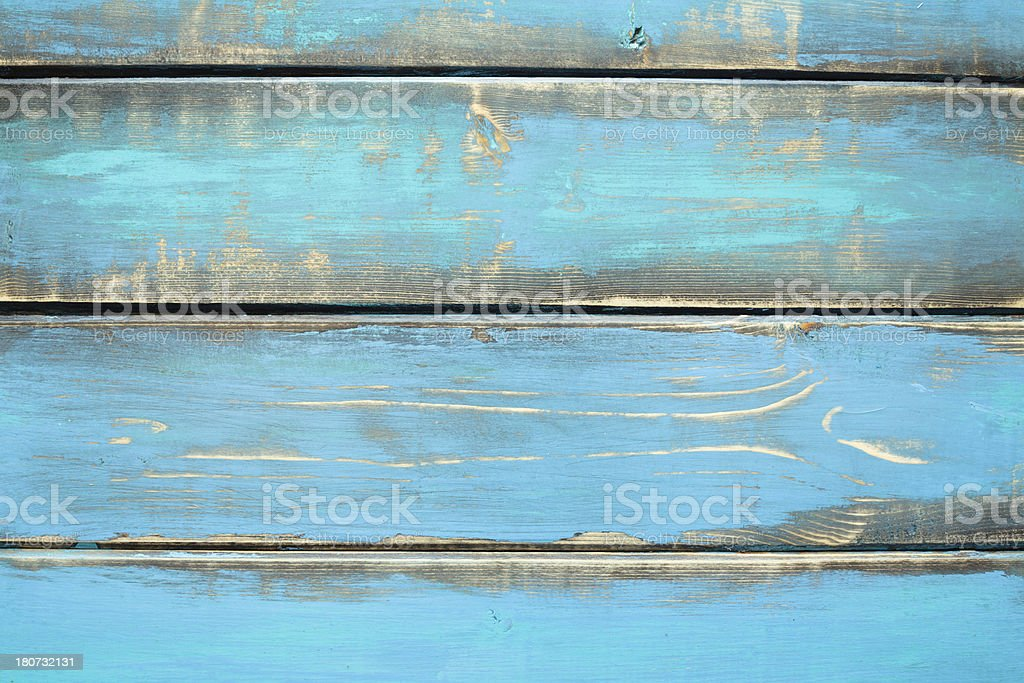 Weathered Blue Wood royalty-free stock photo