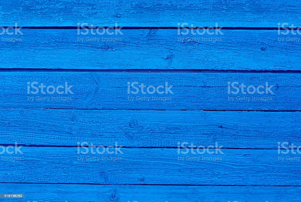 Weathered blue wooden surface. stock photo
