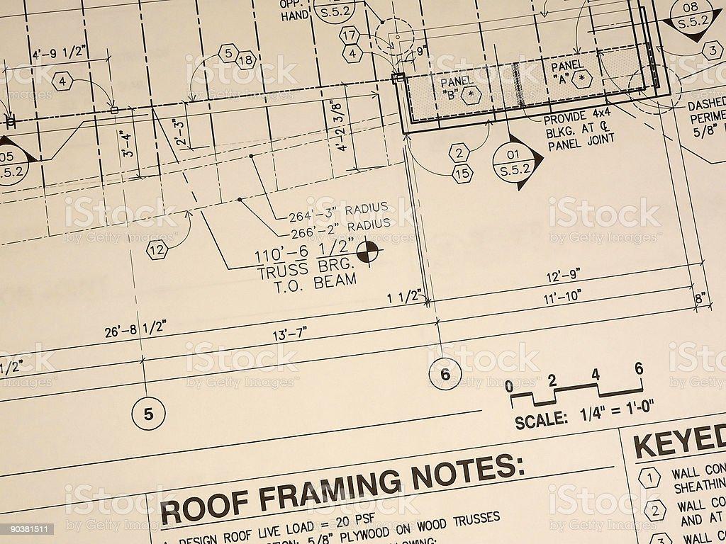 Weathered Blueprint royalty-free stock photo