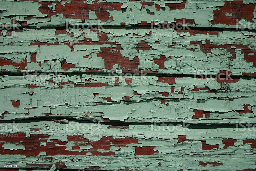 weathered board (green/red) royalty-free stock photo