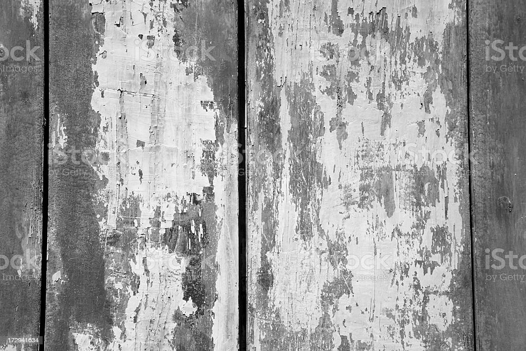 Weathered boards with peeling paint. royalty-free stock photo