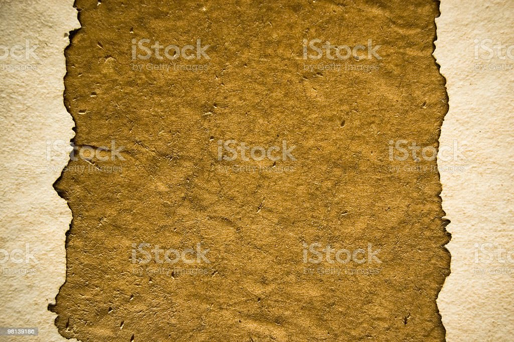 weathered burnt paper royalty-free stock photo