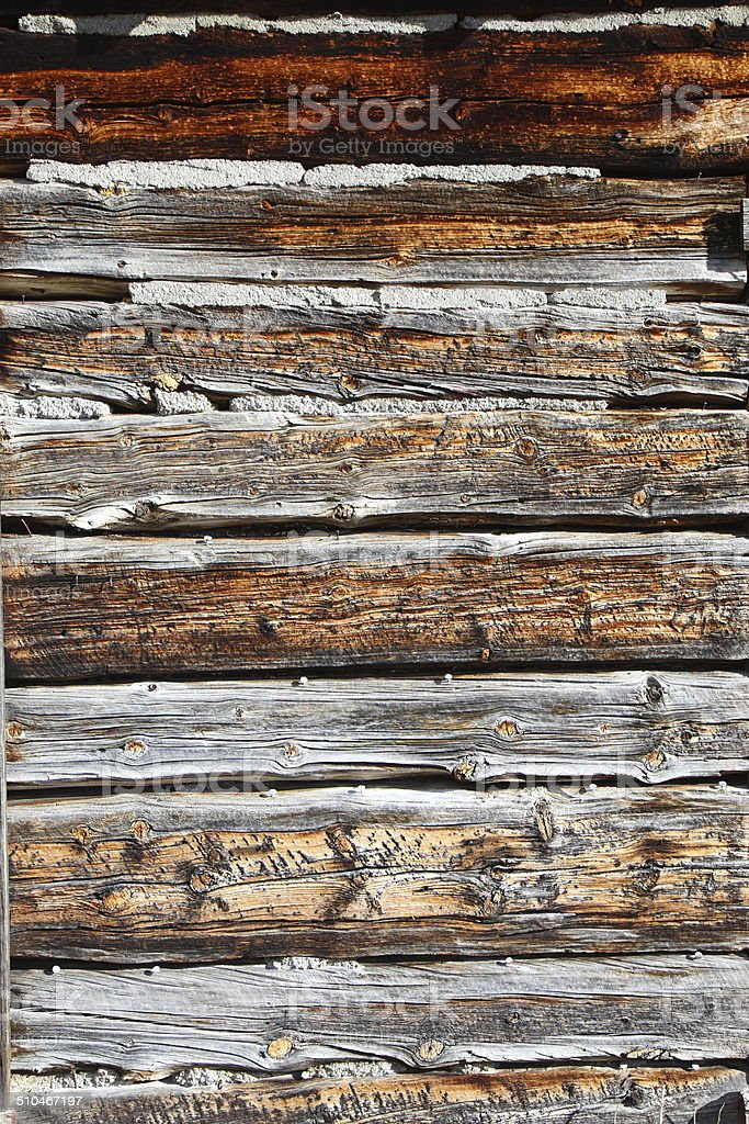 Weathered Cabin Siding Wood Background royalty-free stock photo
