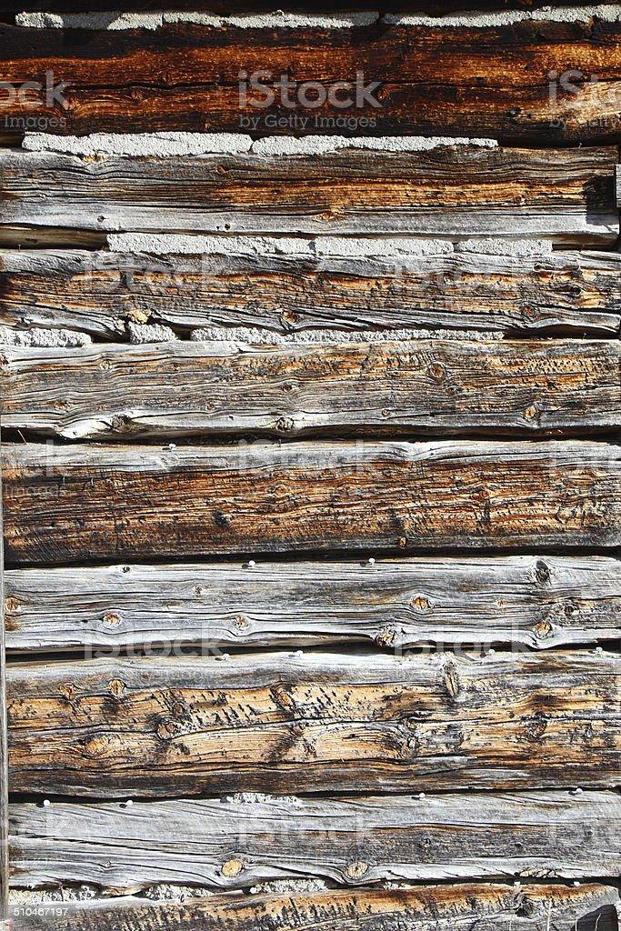 Weathered Cabin Siding Wood Background stock photo