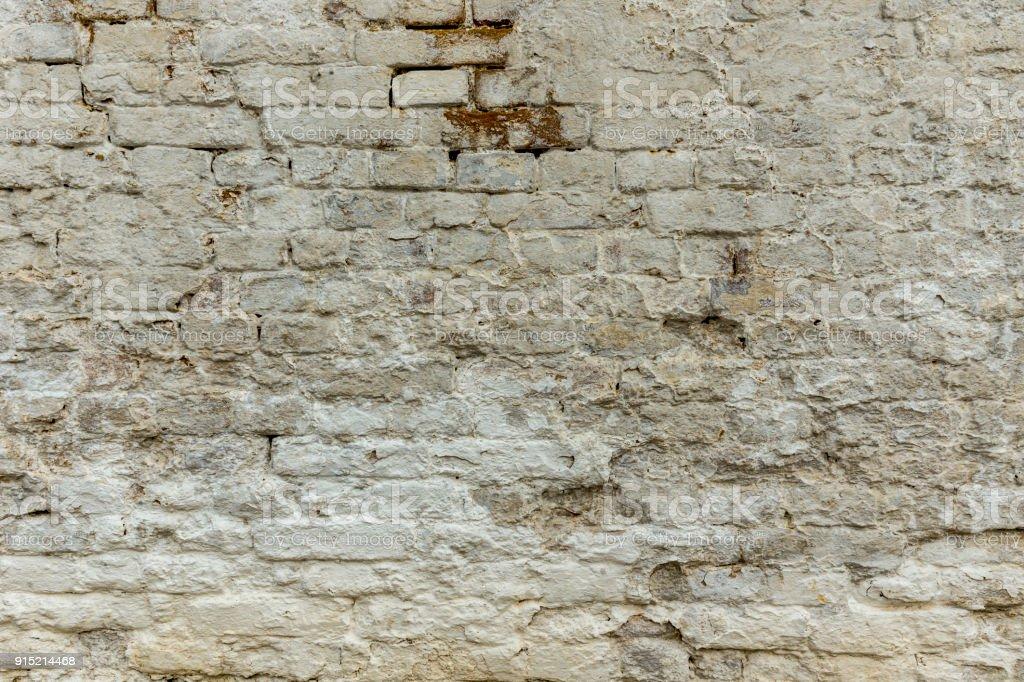 Verwitterte geweißten Wand – Foto