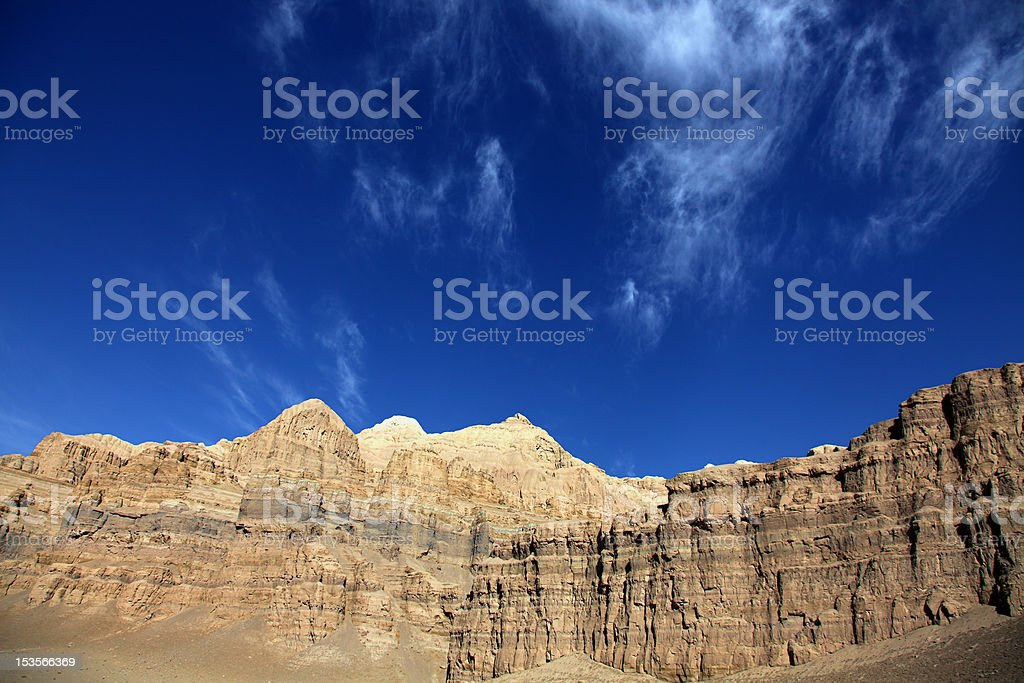 Weathered clay mountain royalty-free stock photo