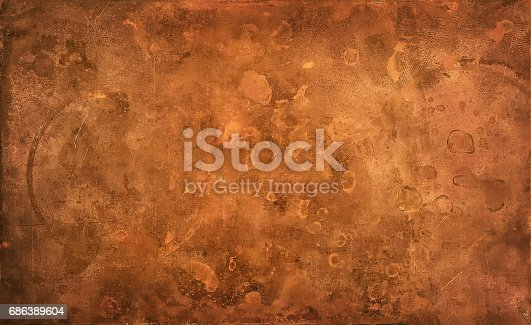 Weathered textured copper background