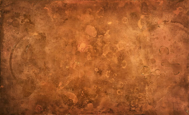 weathered copper background - copper stock photos and pictures