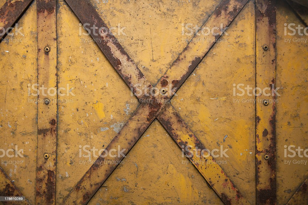 weathered cross steel royalty-free stock photo