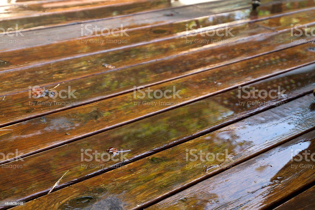 Weathered Deck Boards stock photo