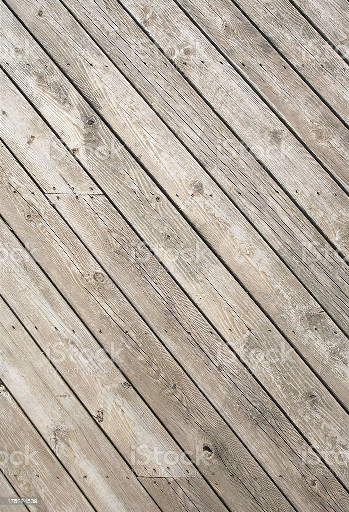 Weathered decking royalty-free stock photo
