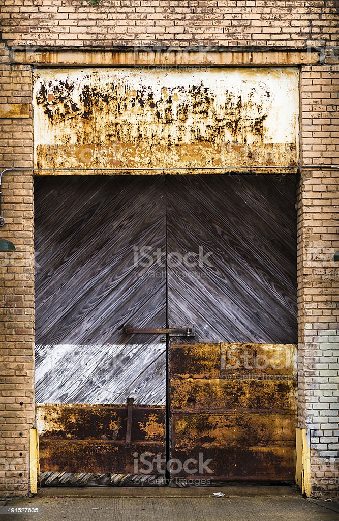 Weathered Door royalty-free stock photo