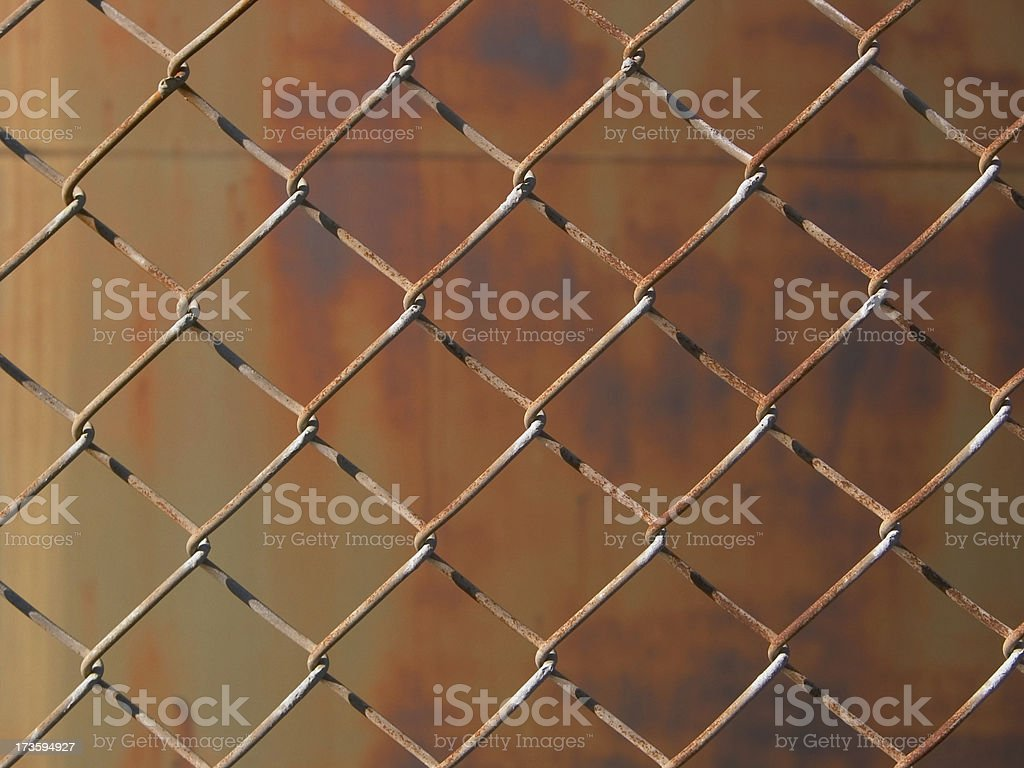 Weathered fence detail royalty-free stock photo