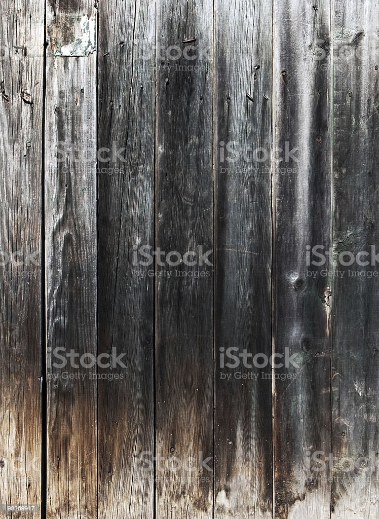 Weathered gray wooden plank royalty-free stock photo