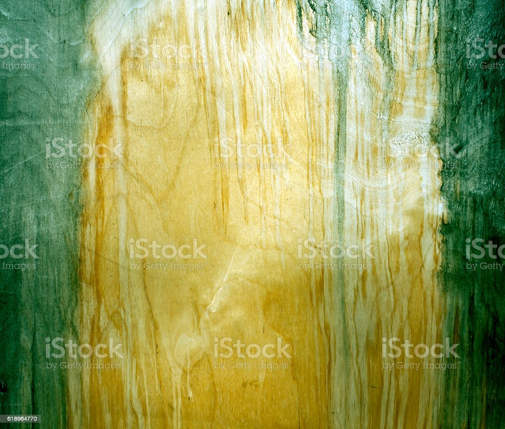 Weathered green fiberboard texture. stock photo
