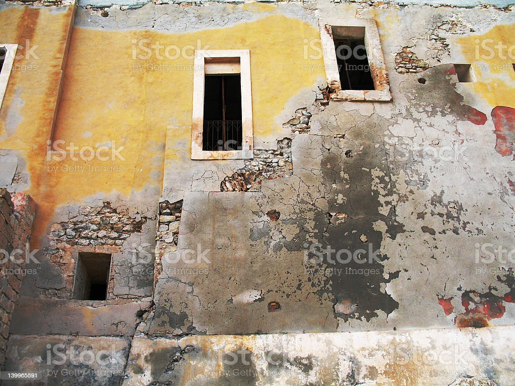 Weathered house facade royalty-free stock photo