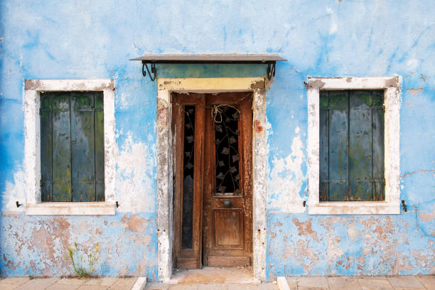Weathered house in Burano