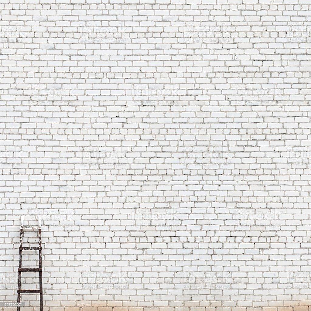 weathered huge brick wall background stock photo