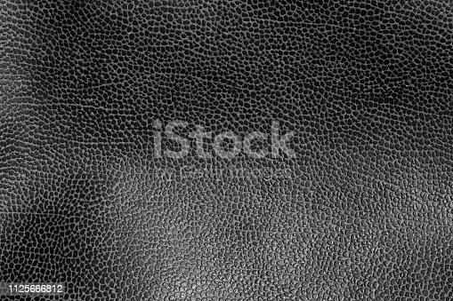 istock Weathered leather texture in black and white 1125666812