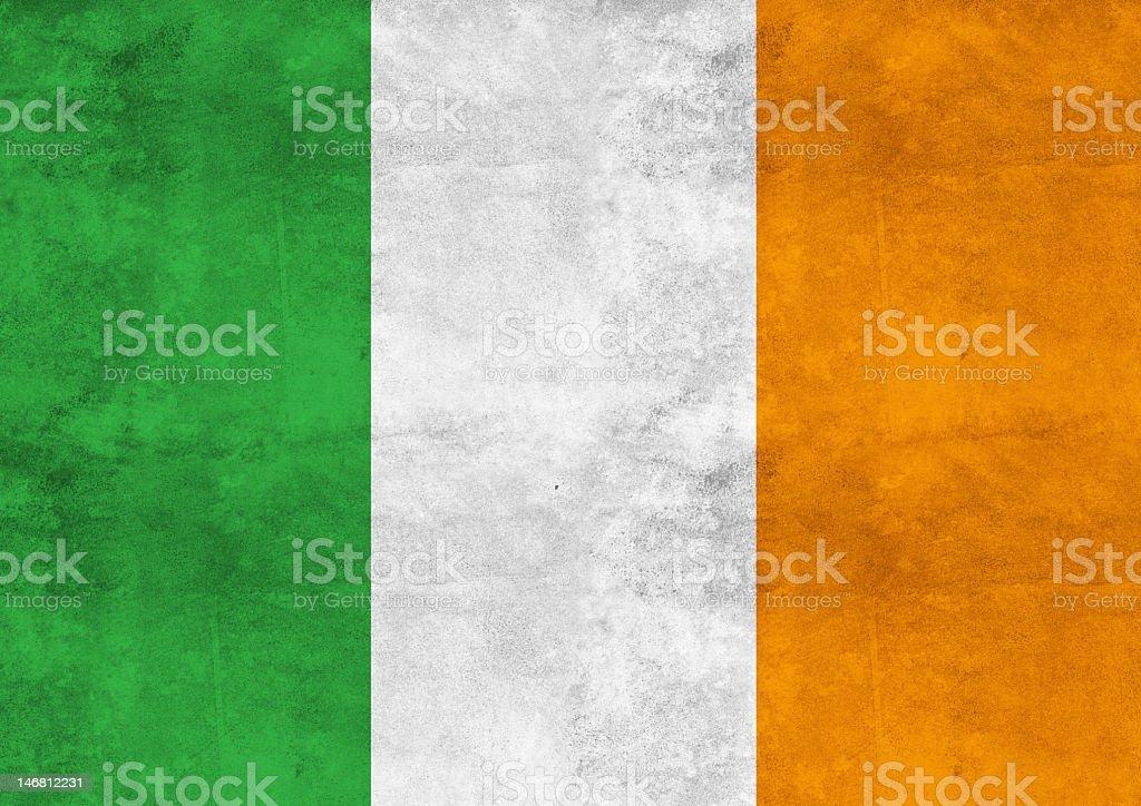 Weathered looking Irish flag background stock photo