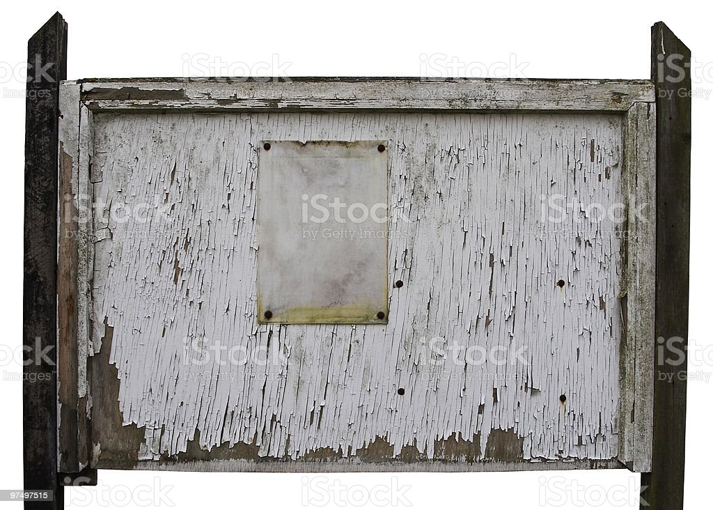 Weathered Notice Board royalty-free stock photo