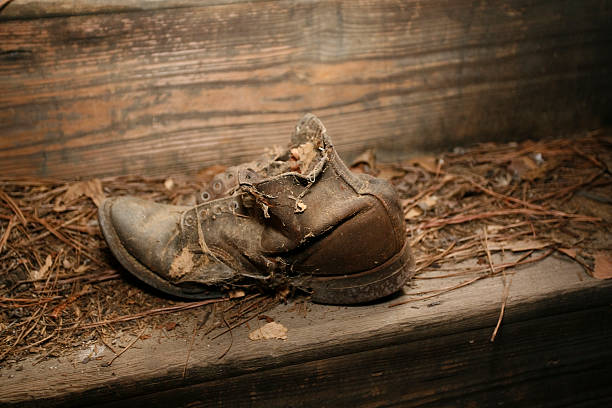 weathered old shoe