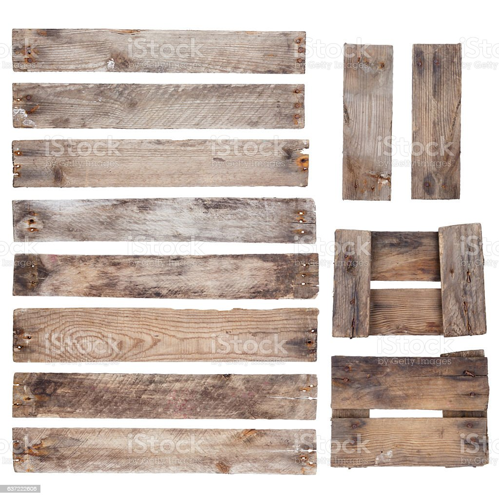 Weathered old wooden planks stock photo