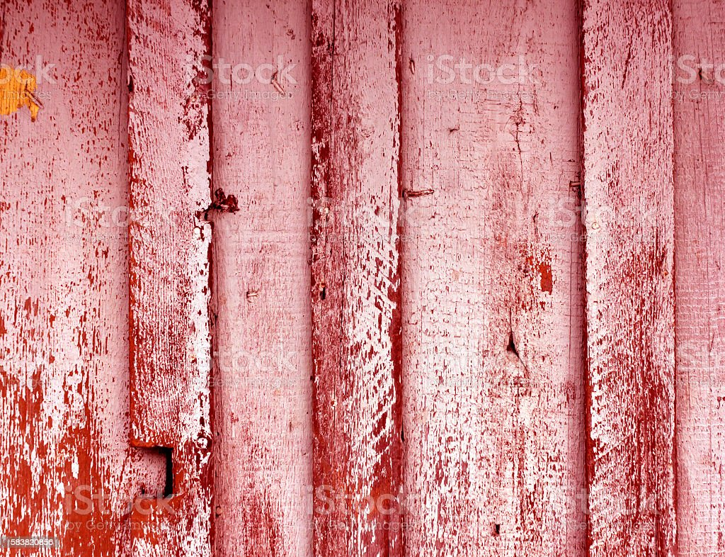 Weathered painted wooden wall texture. stock photo
