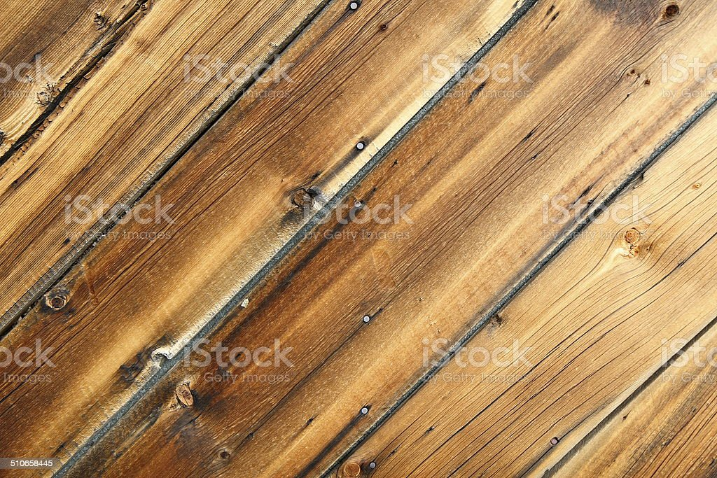 Weathered Pine Cabin Siding Wood Background Diagonal royalty-free stock photo
