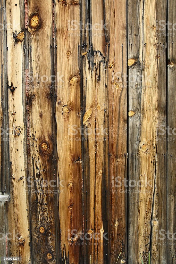 Weathered Pine Cabin Siding Wood Background Vertical stock photo