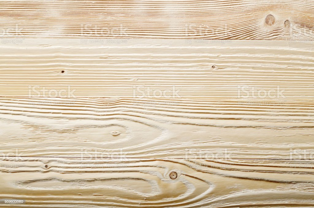 Weathered pine wood planks background with grained surface. Place for text stock photo