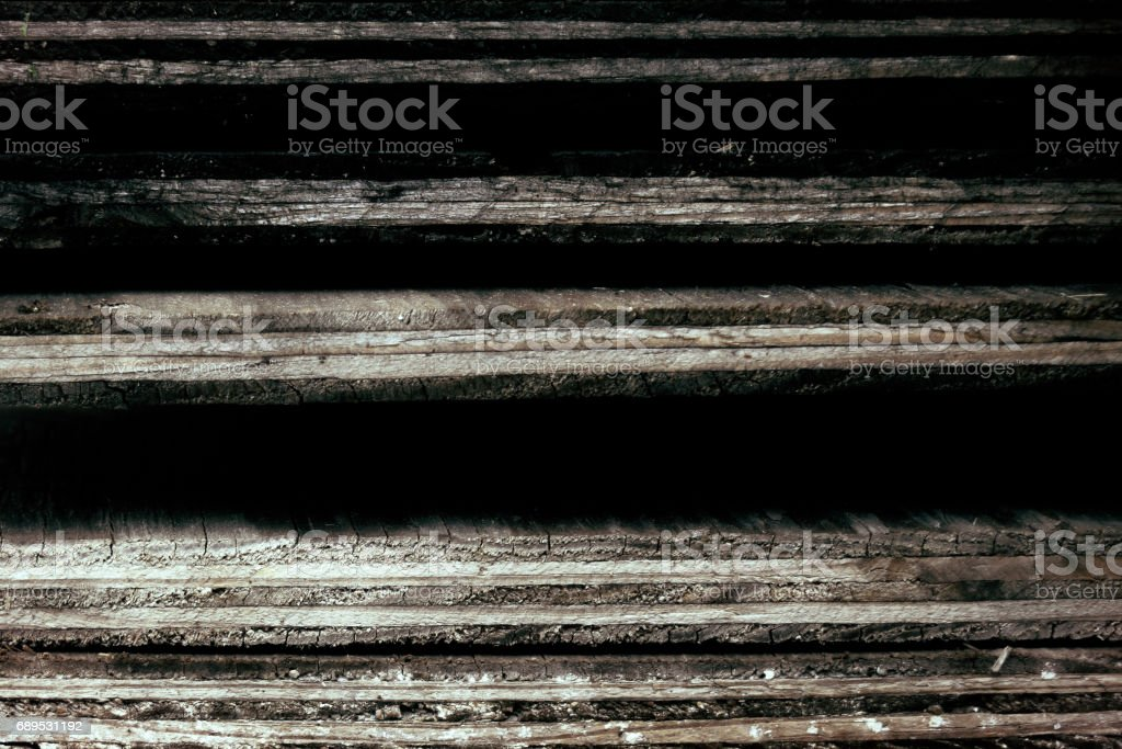 Weathered Plywood Stack stock photo