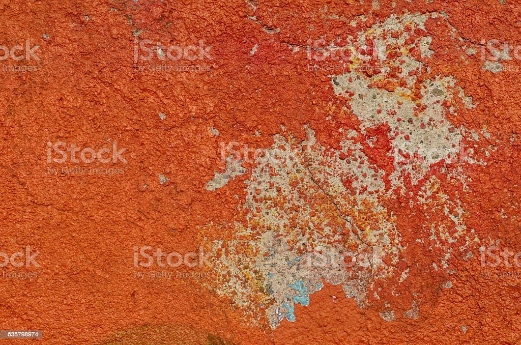Weathered red paint stock photo