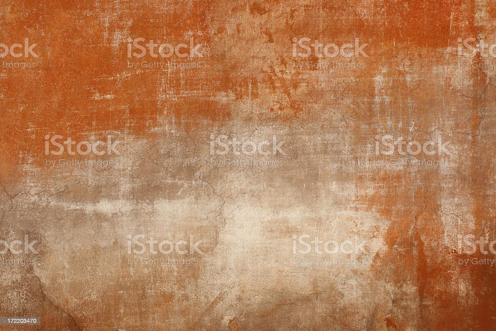 Weathered red wall texture in Rome, Italy royalty-free stock photo